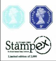 GREAT BRITAIN 1974/2005 Octagon IMPERF. 1p/3p OVPT:Stampex (postally Valid) [PRINT:2000] - Grossbritannien