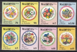 MALDIVES, 1992  Yvert Nº 1455 / 1462  MNH,  Flores Del Mundo - Vegetales