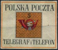 Poland POST TELEGRAPH & TELEPHONE Post-horn Posthorn Cor Postal Cornet Seal Label Vignette Siegelmarke Polen Pologne PTT - Post