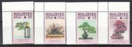 MALDIVES, 1990  Yvert Nº 1314A / 1314D  MNH,  Exposición De Jardines Y Zonas Verdes, Osaka, Japón, Bonsái. - Árboles