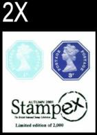 GREAT BRITAIN 1974/2005 Octagon IMPERF. 1p/3p OVPT:Stampex (postally Valid) [PRINT:2000] BULK:2x - Grossbritannien