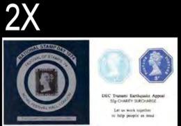 GREAT BRITAIN 1974/2005 Octagon IMPERF. 1p/3p Stamp Day Penny Black OVPT:Tsunami Sheetlet (postally Valid) BULK:2x - Grossbritannien