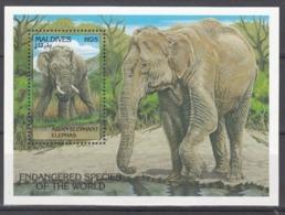 MALDIVES, 1990  Yvert Nº HB 271  MNH,  Elefante Asiático (Elephas Maximus) - Elefantes