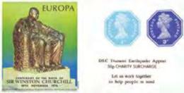 GREAT BRITAIN 1974/2005 Octagon IMPERF. 1p/3p EUROPA Churchill OVPT:Tsunami Sheetlet (postally Valid) [PRINT:250] - Grossbritannien