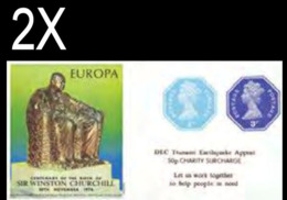 GREAT BRITAIN 1974/2005 Octagon IMPERF. 1p/3p EUROPA Churchill OVPT:Tsunami Sheetlet (postally Valid) BULK:2x - Grossbritannien