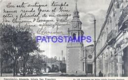 119313 CHILE SANTIAGO ALAMEDA CHURCH IGLESIA SAN FRANCISCO DAMAGED POSTAL POSTCARD - Chile