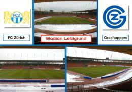 AK Stadion Postkarte Letzigrund Zürich FC Grasshopper Club Grasshoppers Fußball Schweiz SUISSE Stadium Stadio Stade - Fussball