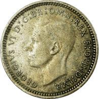 Monnaie, Australie, George VI, Threepence, 1948, Melbourne, TB+, Argent, KM:37a - Threepence
