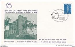 L4F100 ISRAEL FDC Inauguration De La Maisdon Du Soldat Haifa 27-01-1976 Israel 350 - FDC
