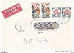 L4G012 ITALIE Lettre Express Druento Pour Saint Cloud France 23-12-1983  Affr. 1700 - 6. 1946-.. Republic