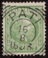 "NTI SC #14 U 1870 K William III W/SON ""PATI/8-16-1893""  CV $3.25 - Netherlands Indies"