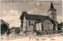 5THZ  1O21 CPA - GRILLY - L'EGLISE (ATTENTION INCISION) - Other Municipalities