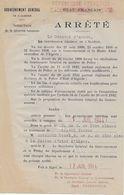 Arrêté Gouvernement Général Algérie - Promotion 1° Cl Gardien Police REVEREND Henri 17/7/1944. - Police