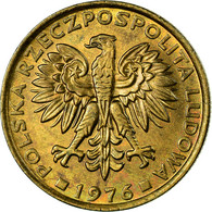 Monnaie, Pologne, 2 Zlote, 1976, Warsaw, SUP, Laiton, KM:80.1 - Pologne