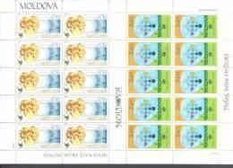 2001. Moldova, Dialog Of Civilizations, 2 Sheetlets Of 10v,mint/** - Moldawien (Moldau)
