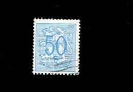 Belgique. (OBP-COB) 1957. N°1027 A  *  Chiffre Sur Lion Héraldique *   50c . Obli - Belgium