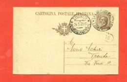 INTERI POSTALI - C 61A/  DA SAN MICHELE ALL'ADIGE PER TRENTO - 1900-44 Victor Emmanuel III.