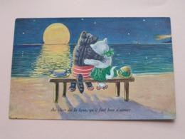 Au Clair De La Lune, Qu'il Fait Bon S'aimer ( Lux - 8503/1 ) Anno 1932 ( See/voir Photo ) ! - Katzen