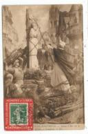 SEMEUSE 5C PORTE TIMBRE ROUGE ACHETEZ ET LISEZ LA DEMOCRATIE 5C LE NUMERO AU RECTO CARTE LIEUSAINT 23.1.1912 RARE - Marcophilie (Lettres)