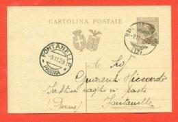 INTERI POSTALI - C 65  - DA BERCETO  PER  FONTANELLE -AMBULANTE SPEZIA - PARMA - 1900-44 Victor Emmanuel III.