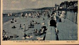 14-VILLERS SUR MER... LA PLAGE ...CPA ANIMEE - Villers Sur Mer