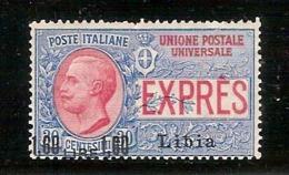 (Fb).Colonie.Libia. 1922.Espresso Soprastampato 1,60 Lire Su 30c**gomma Integra,firmato Chiavarello  (68-14) - Libyen