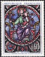 FRANCE Poste 1419 ** MNH Tableau : Vitrail De Notre-Dame De Paris  Rose Ouest - Frankreich