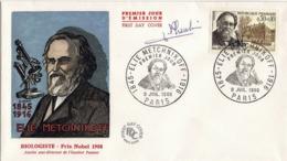 FDC 1er Jour : Elie METCHNIKOFF 09/07/1966 N° 1474 Signé Jean PHEULPIN - 1960-1969