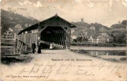 Rheineck Und Die Rheinbrücke (12994) * 3. 7. 1904 - SG St. Gallen