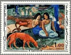 FRANCE Poste 1568 ** MNH Tableau : L'aerarea De Paul GAUGUIN Chien Tahiti - France