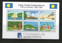PALAU 1988  FINLANDIA 88    YVERT N°B3 NEUF MNH** - Palau