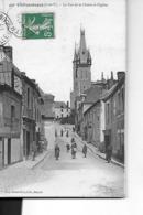 CHATEAUBOURG N 450  RUE DE LA MAIRIE ET L EGLISE   PERSONNAGES    DEPT  35 - France