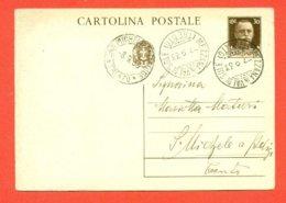 INTERI POSTALI - C 80 DA MEZZANA PER SAN MICHELE ALL'ADIGE - 1900-44 Victor Emmanuel III.