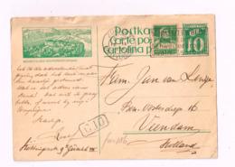 Entier Postal à 10 Centimes.Expédié De Zurich à Veendam (Hollande).Etat:voir Scan - Enteros Postales