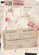 Pellens : : LOT 8 Documents Reçus , Factures . - 1912 Pellens