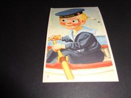 Carte ( 90 ) Avec Yeux Mobiles ( En Plastique )  -   Marine - Cartoline Con Meccanismi