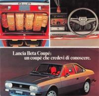 """08620 """"LANCIA BETA COUPE'"""" PIEGHEVOLE ILLUSTRATO ORIGINALE - Automobili"""