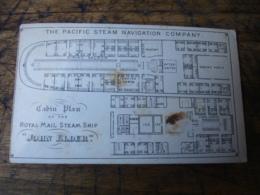 Rare Carte Photo Publicite  Pacific Steam Compagny Cabine Plan John Elder Carte Visite - Advertising
