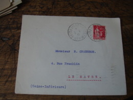 1935 Lille Foire Commerciale Obliteration Sur Lettre - Storia Postale