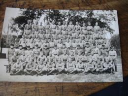 Carte Photo Groupe Militaire - Otros
