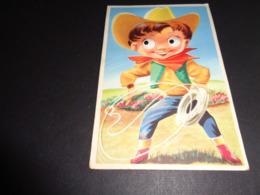 Carte ( 98 ) Avec Yeux Mobiles ( En Plastique )  -  Cowboy - Met Mechanische Systemen