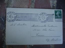 Millesime 0 Semeuse 5 C Lettre Flamme Krag Paris Pl Vaugirard 7 Lignes Droites - 1877-1920: Periodo Semi Moderno