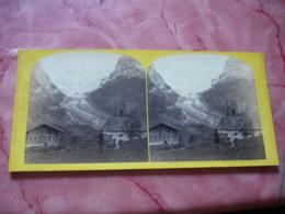 Stereo  Alpine Club  Par W England Glacier Grindewald Chalet Suisse Photo Stereoscopique - Fotos Estereoscópicas
