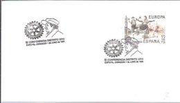 POSTMARKET ESPAÑA   2210  GOYA - Rotary, Club Leones