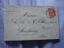 Occupation Alsace  Niederbronn 6.9  Cachet Allemand Sur Lettre Facture - 1801-1848: Precursors XIX