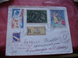 Lot De 2 Recommande Lettre Recommandee  Affranchiment Multiples - Storia Postale