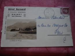 Carte Publicite Hotel Bernard Duingt  Carte 3 Volets - 1900 – 1949
