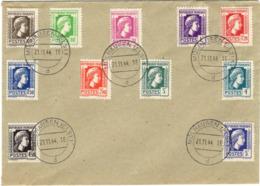 FRANCE  630 à 648 FDC Série Alger Coq Marianne Cachet Allemand 1er Jour Libération Mulhouse Mülhausen 21 Nov 1944 - Postmark Collection (Covers)