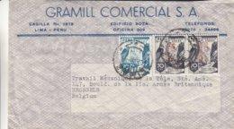 Peru - Lettre De 1951 - Oblit Lima - Exp Vers Bruxelles - Oiseaux - Rapaces - - Pérou