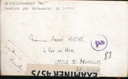 """ISLE OF MAN BELGIQUE LETTRE D'UN DES CAMPS DE PRISONNIERS DE L'ILES DE MAN""""CAMP X PEEL"""" VERS LA BELGIQUE AR. 23.09.1943 - Lettres"""